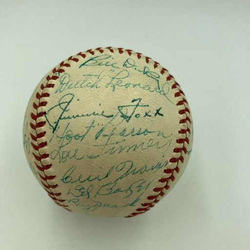 1940 All Star Game Signed Baseball Jimmie Foxx Joe Dimaggio Ted Williams JSA COA