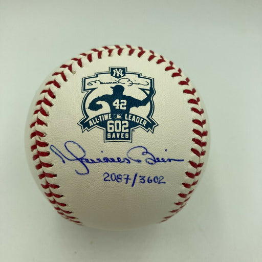 Mariano Rivera Signed All Times Saves Leader Special Edition Baseball Steiner