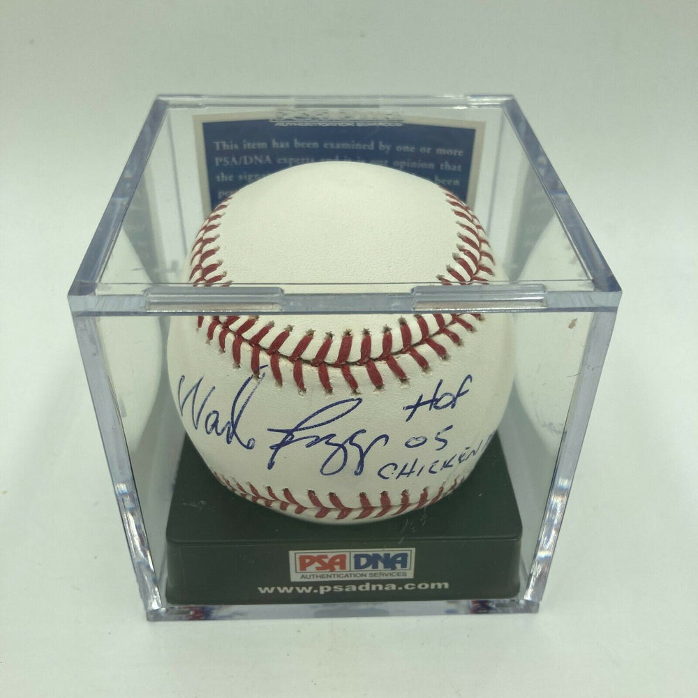 Wade Boggs HOF 2005 Signed Major League Baseball PSA DNA Graded GEM MINT 10