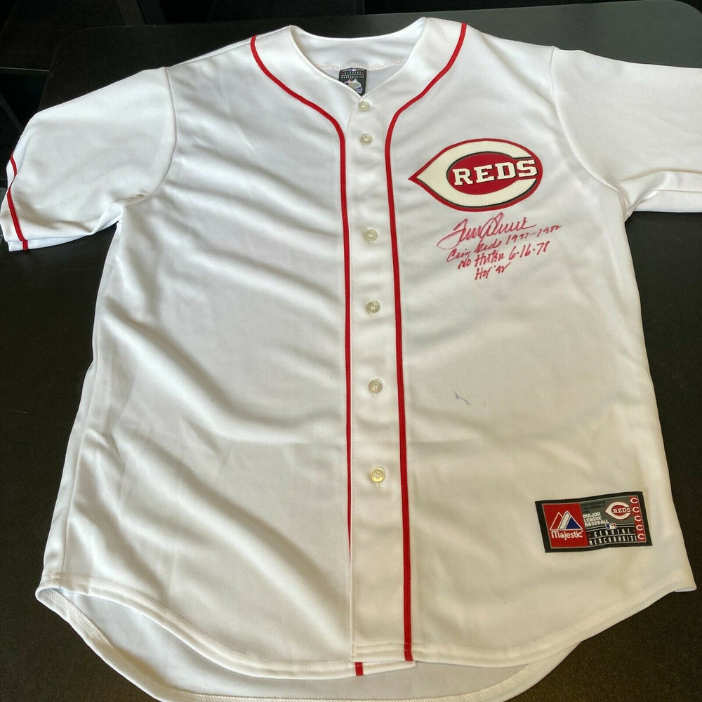 Tom Seaver Signed Cincinnati Reds Jersey Inscribed No Hitter 6-16-1978 HOF JSA