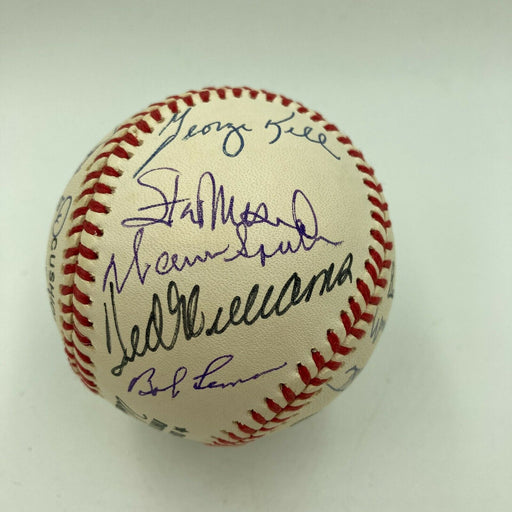 Beautiful Ted Williams Hall Of Fame Multi Signed Baseball 22 Sigs Beckett COA