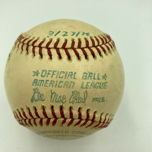 Hank Aaron HR Chase Milwaukee County Stadium Game Used Baseball From 3-27-1976