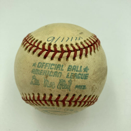 Hank Aaron HR Chase Milwaukee County Stadium Game Used Baseball From 9-17-1975