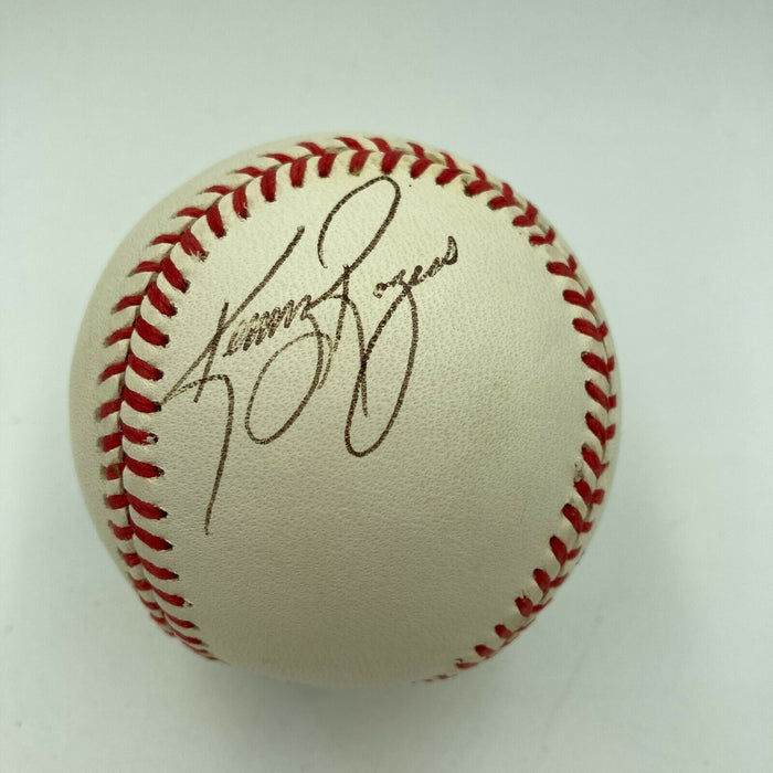 Kenny Rogers Signed Autographed Official American League Baseball JSA COA