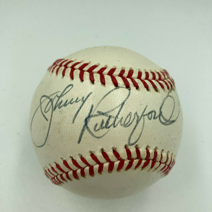 Johnny Rutherford Signed Autographed MLB Baseball Drag Racing JSA COA