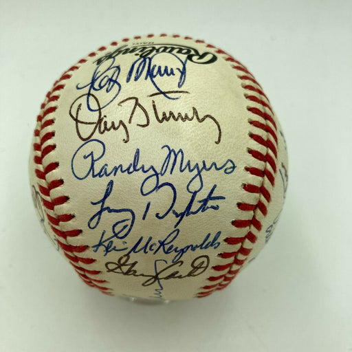1988 New York Mets Team Signed National League Baseball With Gary Carter