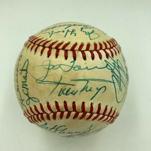 Willie Mays 1980's New York Mets Old Timers Day Signed Baseball With Legends