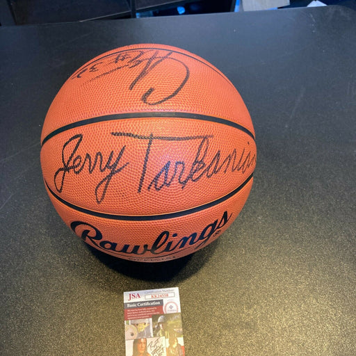 Jerry Tarkanian 2000 Fresno State Bulldogs Team Signed NCAA Basketball JSA COA