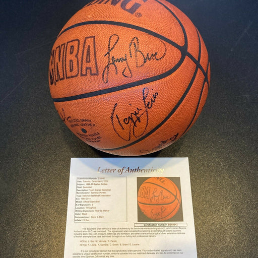 1990-91 Boston Celtics Team Signed Game Used NBA Basketball Larry Bird JSA COA