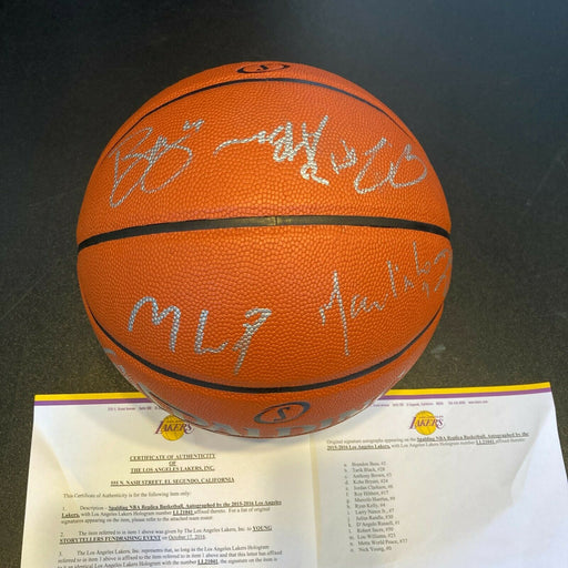 Kobe Bryant 2015-16 Final Season Los Angeles Lakers Team Signed Basketball JSA