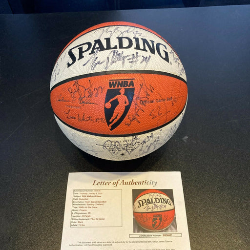 2000 WNBA All Star Game Signed Basketball 30 Sigs JSA Lisa Leslie Sheryl Swoope