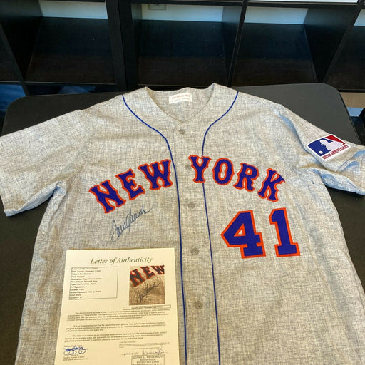 Tom Seaver Signed Authentic 1969 New York Mets Mitchell & Ness Jersey JSA COA