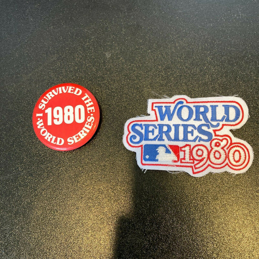 Vintage 1980 World Series Patch & Pin Philadelphia Phillies