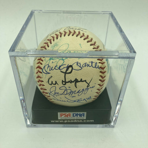 Mickey Mantle Joe Dimaggio Willie Mays Hank Aaron HOF Signed Baseball PSA DNA