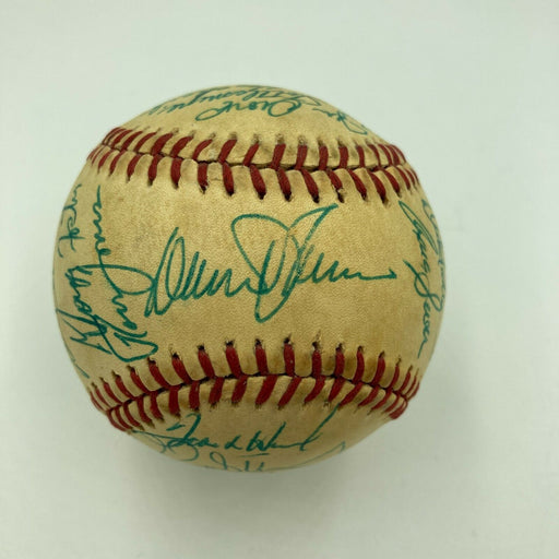 1986 New York Mets World Series Champs Team Signed Vintage Feeney NL Baseball