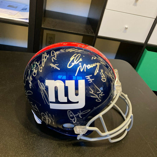 2011 New York Giants Super Bowl Champs Team Signed Full Size Helmet Steiner Holo