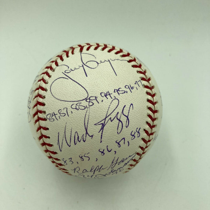 Batting Title Champs Signed Baseball 22 Sig Kirby Puckett Stan Musial Steiner