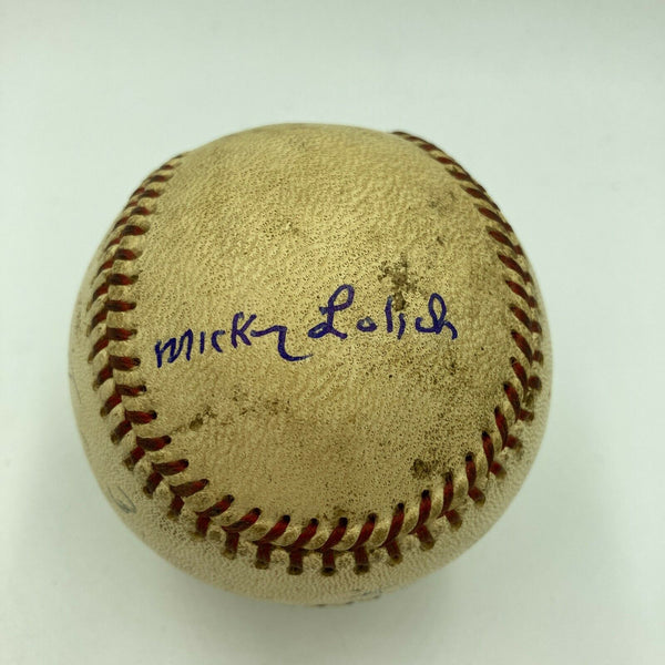 Mickey Lolich Signed Career Win No. 43 Final Out Game Used Baseball Beckett COA