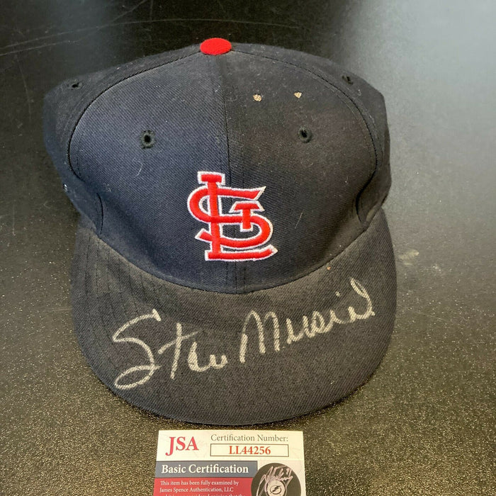 Stan Musial Signed Authentic St. Louis Cardinals Game Model Hat With JSA COA