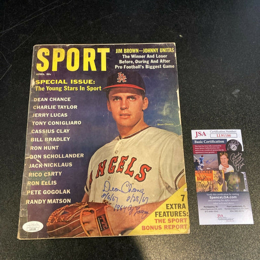 Dean Chance No Hitter Cy Young Signed Vintage Magazine With JSA COA