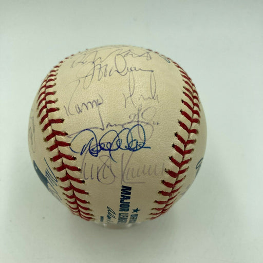 2002 New York Yankees Team Signed Baseball Derek Jeter Mariano Rivera JSA COA