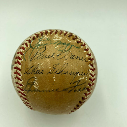 1955 HOF Induction Signed Baseball JImmie Foxx Paul Waner Joe Dimaggio JSA COA