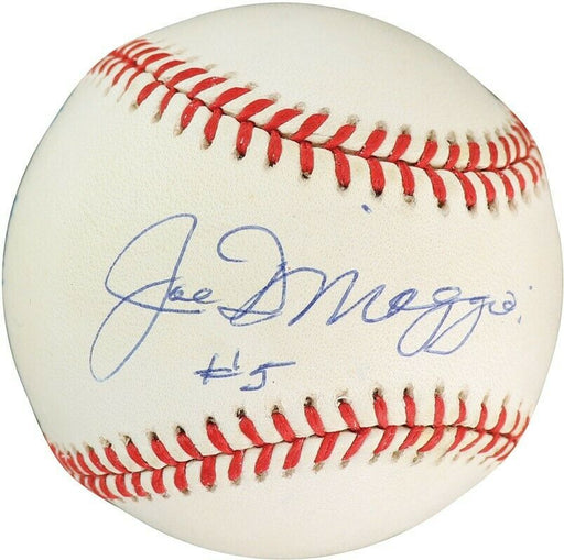 Beautiful Joe DImaggio #5 Signed Official American League Baseball PSA DNA COA