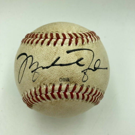 Michael Jordan Rookie Signed 1994 Minor League Game Used Baseball Beckett COA