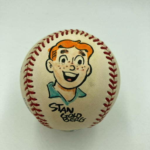Cartoonist Signed Baseball Stan Goldberg Hank Ketcham Will Eisner Reg Smythe JSA