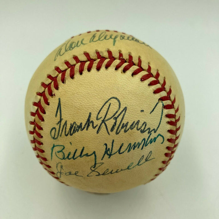 Don Drysdale Whitey Ford Eddie Mathews Frank Robinson HOF Signed NL Baseball