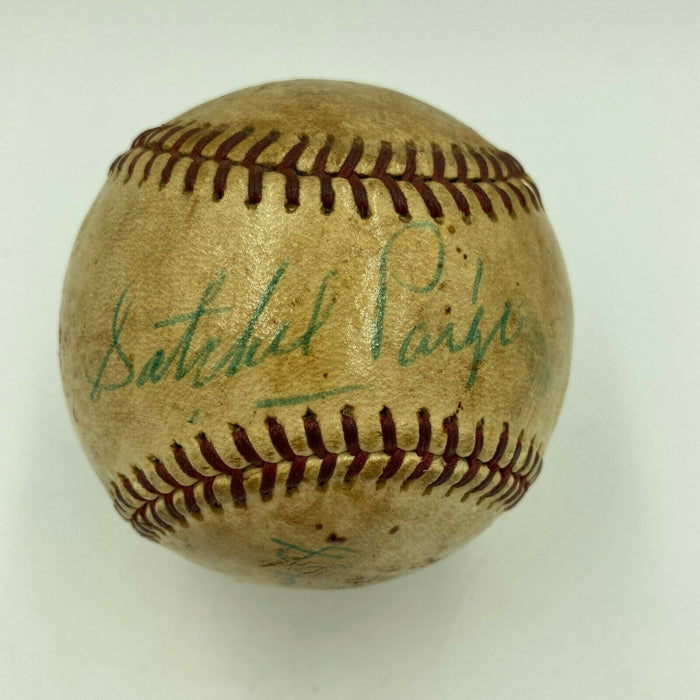 Satchel Paige 1940's Kansas City Monarchs Negro League Signed Baseball JSA COA