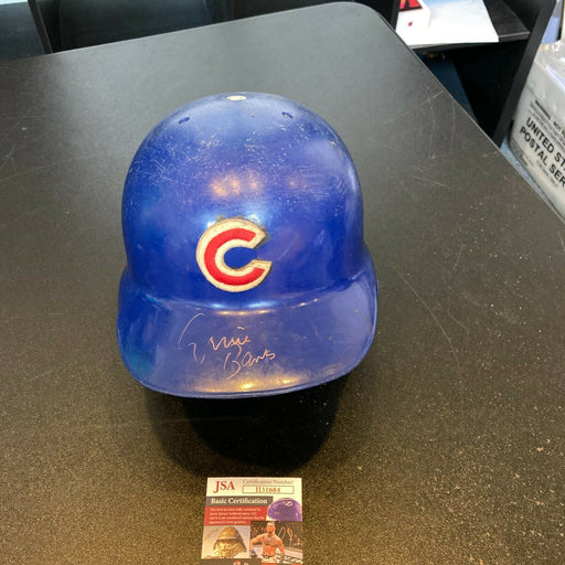 Ernie Banks Signed Game Used 1960's Chicago Cubs Helmet With JSA COA
