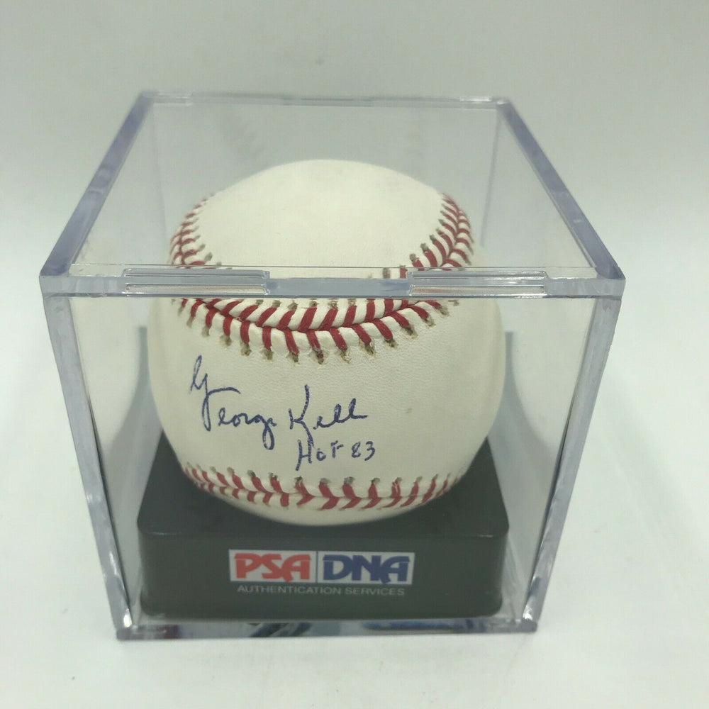 George Kell HOF 83 Signed Autographed MLB Baseball PSA DNA GRADED MINT 9.5