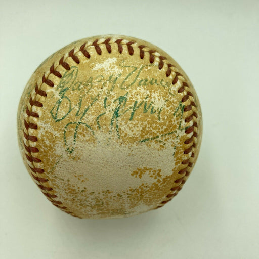 1950's Cy Young Jimmie Foxx Tris Speaker Francis Ouimet HOF Signed Baseball PSA