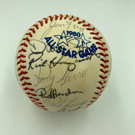 1980 All Star Game Team Signed A.S. Baseball George Brett Carlton Fisk JSA COA