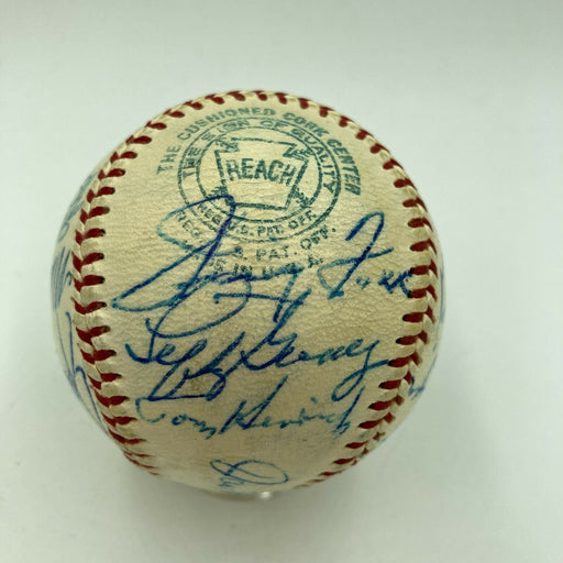 1938 All Star Game Team Signed Baseball Jimmie Foxx Joe Dimaggio With JSA COA