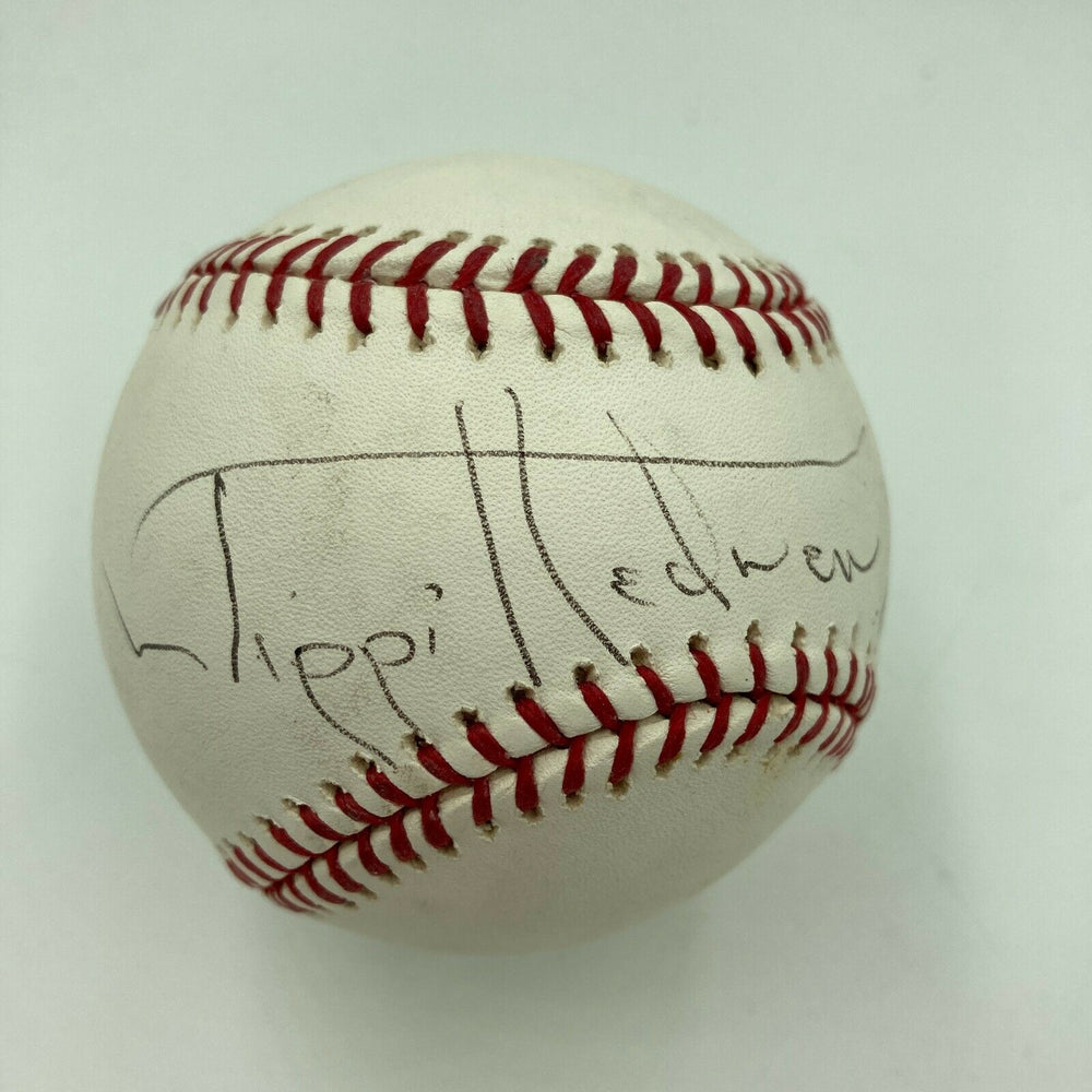 "Tippi Hedren ""The Birds"" Signed Autographed Major League Baseball JSA COA"