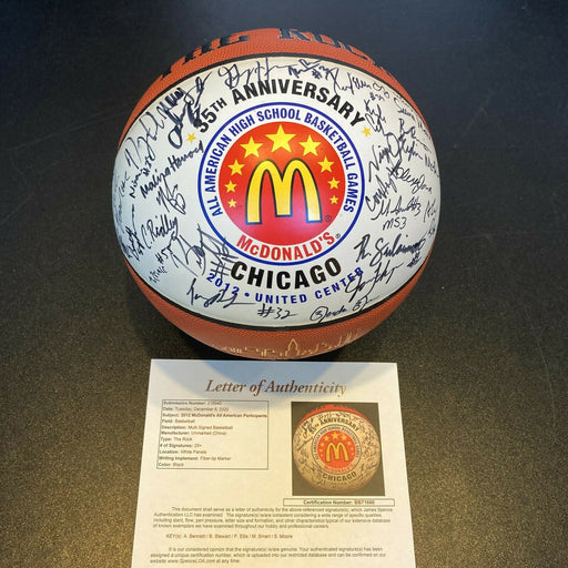 2012 Mcdonald's All American High School All Star Game Signed Basketball JSA COA