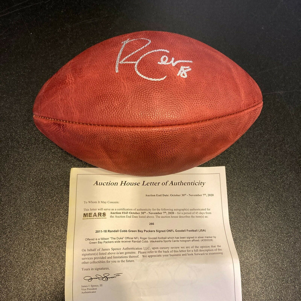 Randall Cobb Signed Autographed Wilson NFL Game Football JSA COA