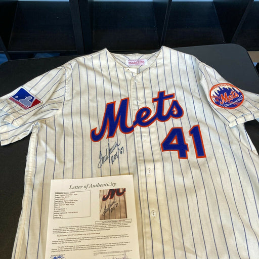 Tom Seaver 1967 Rookie Of Year Signed New York Mets Mitchell & Ness Jersey JSA