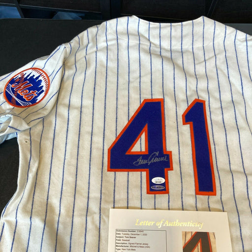 Tom Seaver Signed Authentic 1969 New York Mets Mitchell & Ness Jersey JSA & UDA
