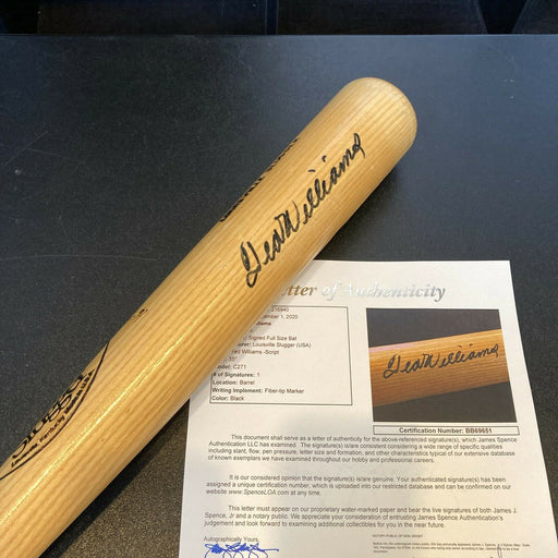 Ted Williams Signed Autographed Louisville Slugger Game Model Bat With JSA COA