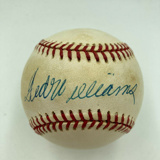 Ted Williams Signed Autographed Official American League Baseball JSA COA