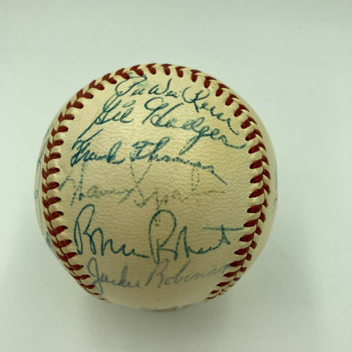 Jackie Robinson Willie Mays 1954 All Star Game Team Signed Baseball JSA COA