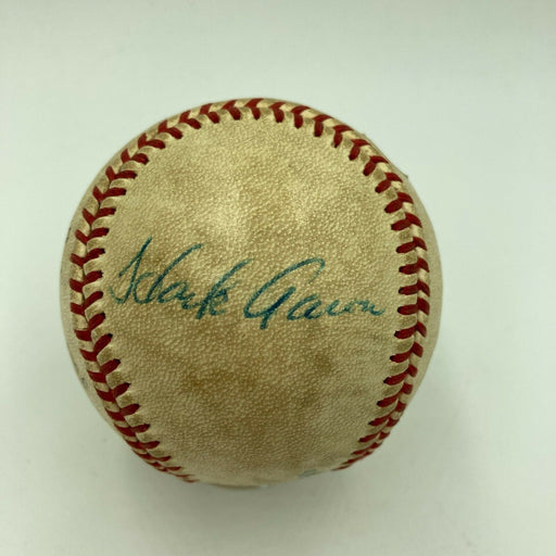 Willie Mays & Hank Aaron Signed Game Used 1973 All Star Game  Baseball JSA COA