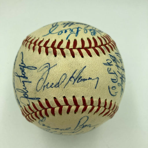 1957 Milwaukee Braves World Series Champs Team Signed Baseball Hank Aaron JSA