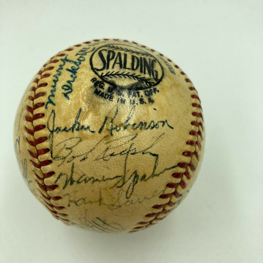 Jackie Robinson Roy Campanella 1950 All Star Game Team Signed Baseball JSA COA