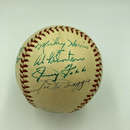 Jimmie Foxx Joe Dimaggio 1941 All Star Game Team Signed AL Baseball JSA COA