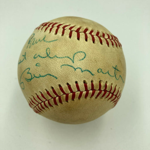 Billy Martin Single Signed Vintage Game Used American League Baseball JSA COA