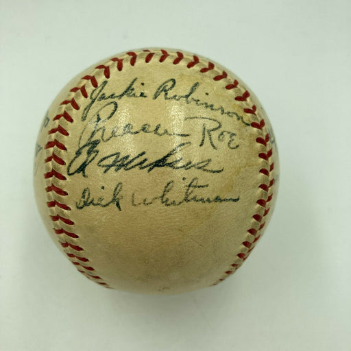 Jackie Robinson Rookie Era 1948 Brooklyn Dodgers Team Signed Baseball JSA COA